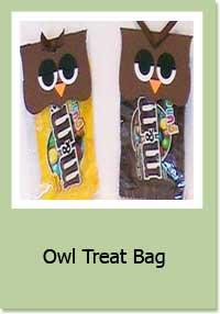 Owl Treat Bag Topper