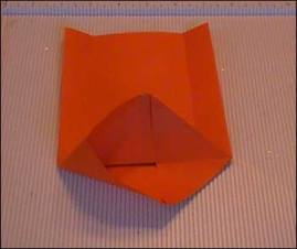 small paper bag corner folds