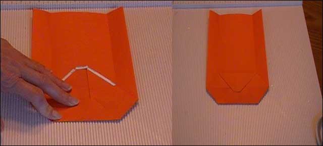 small paper bag bottom flaps adhesive