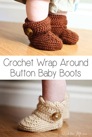 Baby Booties Wrap Around