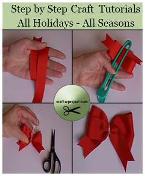 Craft a Project offers step-by-step tutorials for all Holidays and Seasons.