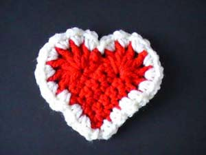 crochet red heart