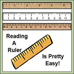 Ruler Measurements : Reading a Ruler