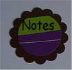 scalloped circle notes