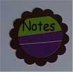 scalloped circle notes