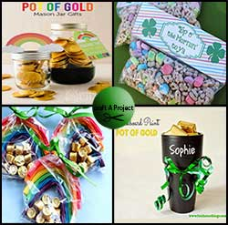 St. Patrick's Day Crafts: Pot of gold.