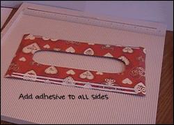 Valentine Teacher Gift Top Adhesive