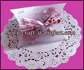 Valentine Crafts : Valentine candy gift box