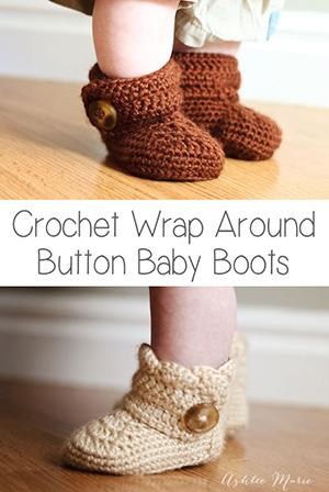 Baby Booties Wrap Around