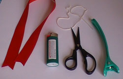 basic bow with double loops supplies